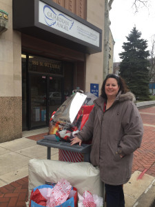 Panduit (Lockport) delivers their generous collection of Angels on Assignment gifts