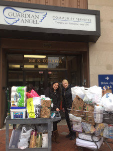 "St. Bernard's Catholic Parish (Homer Glen) collected an enormous amount of items from our agency ""Wish List"""
